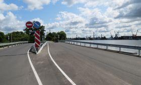 В Прегольском – новый мост итротуар